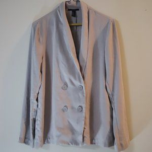 Double Breasted Blazer from Forever 21 in Cream